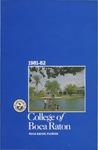 1981-1982 College of Boca Raton Catalog