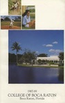 1987-1989 College of Boca Raton Catalog by College of Boca Raton