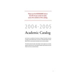 2004-2005 Lynn University Academic Catalog by Lynn University