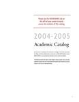 2004-2005 Lynn University Academic Catalog