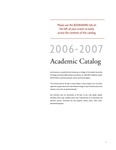 2006-2007 Lynn University Academic Catalog by Lynn University