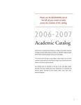 2006-2007 Lynn University Academic Catalog