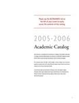 2005-2006 Lynn University Academic Catalog