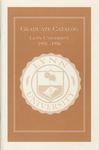 1995-1996 Lynn University Graduate Catalog