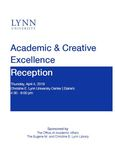 2019 Academic & Creative Excellence Reception Program by Lynn University
