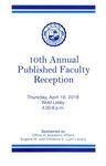 2018 Published Faculty Reception Program by Lynn University
