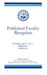 2017 Published Faculty Reception Program