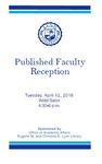 2016 Published Faculty Reception Program by Lynn University