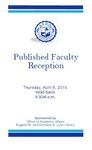 2015 Published Faculty Reception Program