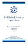 2015 Published Faculty Reception Program by Lynn University