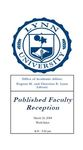 2014 Published Faculty Reception Program