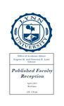 2013 Published Faculty Reception Program