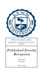 2012 Published Faculty Reception Program