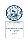 2011 Published Faculty Reception Program by Lynn University