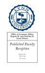 2010 Published Faculty Reception Program by Lynn University