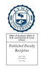 2009 Published Faculty Reception Program by Lynn University