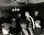1971 Marymount Commencement: Father Fagan & Milton Lewis by Marymount College