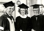 1981 CBR Commencement: Don Ross Marylou Whitney and Hugh Carville by College of Boca Raton