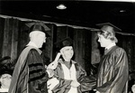 1981 CBR Commencement: Clarence Smith presents degree to grandson by College of Boca Raton