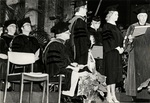 1981 CBR Commencement: Don Ross presents honorary doctorate to Marylou Whitney by College of Boca Raton