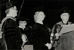 1981 CBR Commencement: Gerald Carville Edith Whitlock Marylou Whitney and Don Ross by College of Boca Raton
