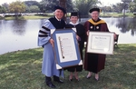[1992] Drs Ross and Mahoney present honorary degree to Mary Rose Main by Lynn University