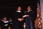 [1992] Christine Lynn presents Trustees Medal to Cynthia Cergueira by Lynn University