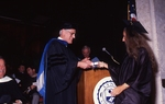 [1992] Hugh Carville presents Associate Degree Award to Deborah Anne Almeida by Lynn University