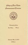 1977 College of Boca Raton Commencement