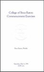 1991 College of Boca Raton Commencement by College of Boca Raton