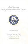 2006 Lynn University Commencement Program - Undergraduate Day Students