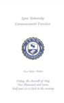 2007 Lynn University Commencement Program - Graduate Students and Undergraduate Evening Students