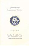 2007 Lynn University Commencement Program - Undergraduate Day Students by Lynn University