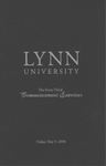 2008 Lynn University Commencement Program - Graduate Students and Undergraduate Evening Students