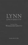 2008 Lynn University Commencement Program - Undergraduate Day Students by Lynn University