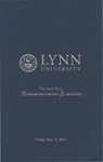 2011 Lynn University Commencement Program - Graduate Students and Undergraduate Evening Students