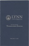 2012 Lynn University Commencement Program - Graduate Students and Undergraduate Evening Students by Lynn University