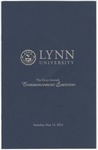 2012 Lynn University Commencement Program - Undergraduate Day Students