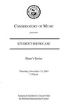 2003-2004 Student Showcase: Dean's Series (No. 2)