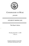2003-2004 Student Showcase: Dean's Series (No. 3)