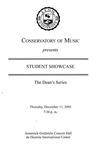 2003-2004 Student Showcase: Dean's Series (No. 3)