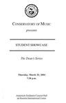 2003-2004 Student Showcase: Dean's Series (No. 5)