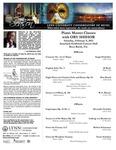 2012-2013 Master Class - Ory Shihor (Piano)
