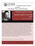 2011-2012 Master Class - Neal Gripp (Viola)
