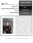 2010-2011 Master Class - James Babor (Percussion)