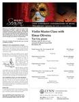 2010-2011 Master Class - Elmar Oliveira (Violin)