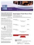 2009-2010 Master Class - Mark Kaplan (Violin)