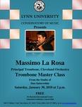2009-2010 Master Class - Massimo La Rosa (Trombone)