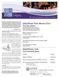 2009-2010 Master Class and Mini-Recital - Gilad Karni (Viola)
