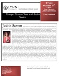 2008-2009 Master Class - Judith Saxton (Trumpet)